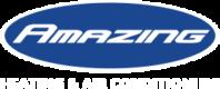 Logo of Amazing HVAC (Blue Background, White Tagline)